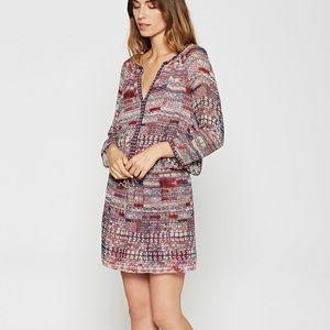 Joie Silk Tie-Waist Tunic Dress